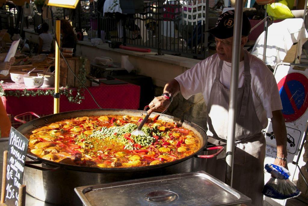 Market Day Cotignac Paella Provence