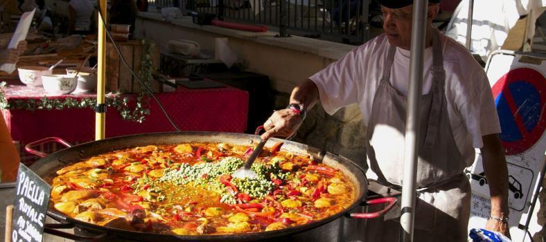 Grande Paella Provence Market Day Cotignac Paella Provence