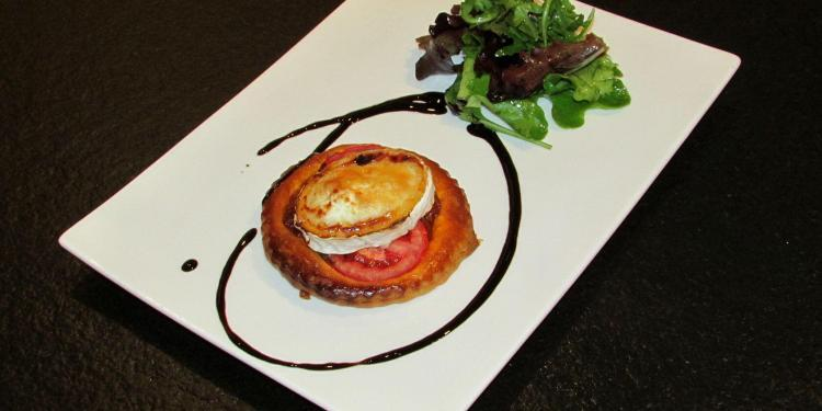 Tomato and Goat's Cheese Tart #Recipe @MasdAugustine