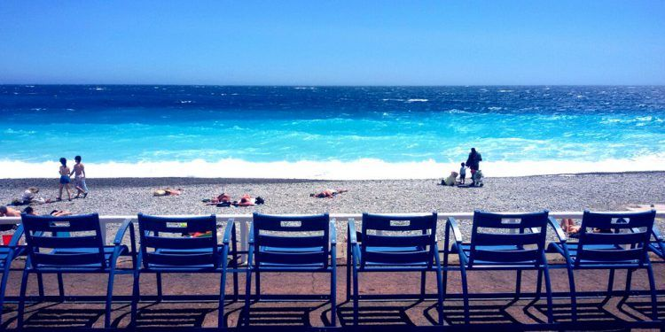 Blue Chairs in Nice French Riviera