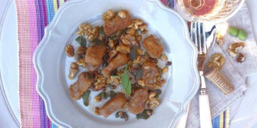 Sweet Potato Gnocchi with Sage, Walnut and Pumpkin Seed Butter @MirabeauWine #TastesofProvence