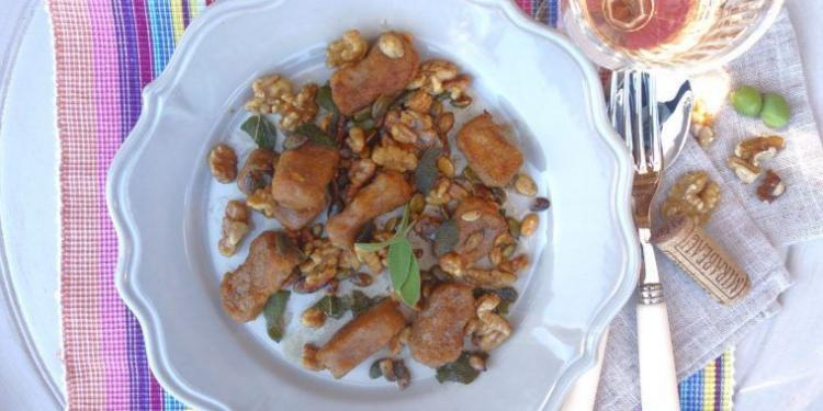 Sweet Potato Gnocchi with Sage, Walnut and Pumpkin Seed Butter @MirabeauWine #TastesofProvence