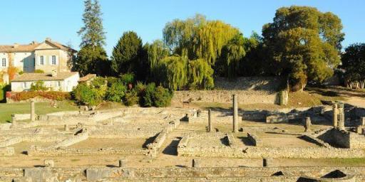 Vaison-la-Romaine Market Roman ruins @OurhouseinProvence