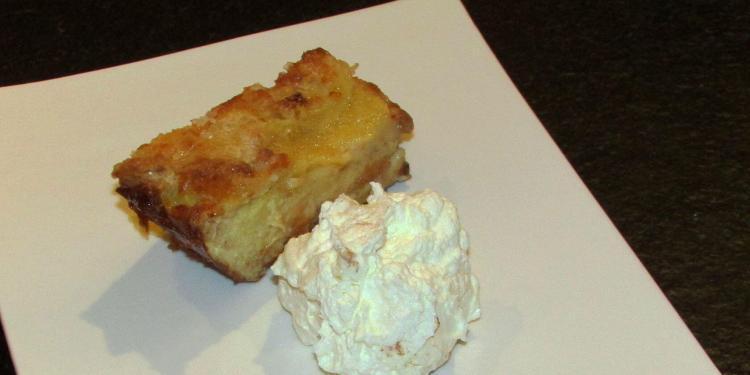 Sweet Brioche Pudding Passion Fruit Cream @Masdaugustine