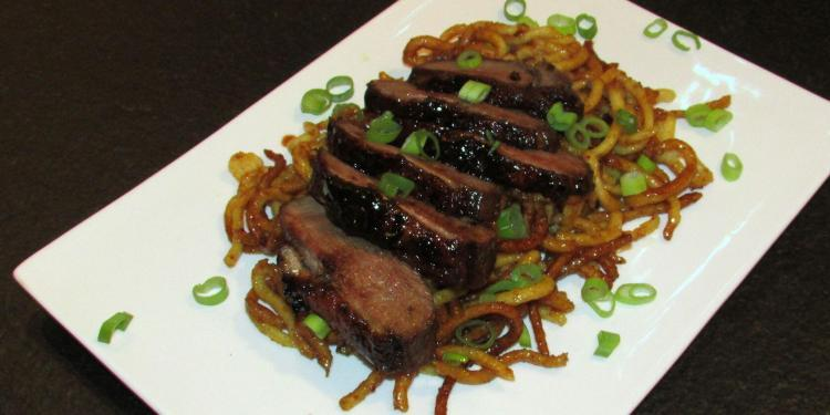 Duck on Spicy Noodles @Masdaugustine