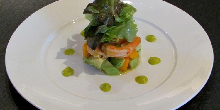 Prawn, Avocado and Mango Salad @Masdaugustine