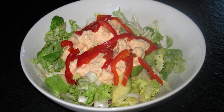 Red Pepper Chicken Salad @Masdaugustine