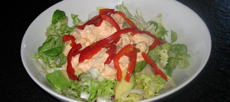 Red Pepper Summer Chicken Salad @Masdaugustine