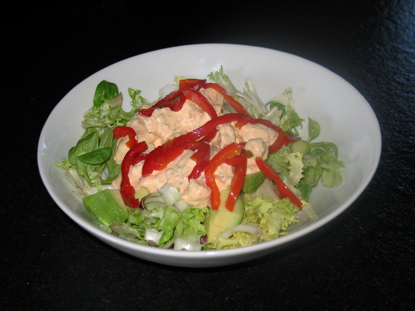 Red Pepper Summer Chicken Salad @Masdaugustine