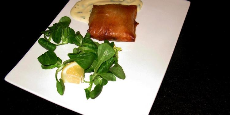 Salmon Prawn Filo Parcels Recipe