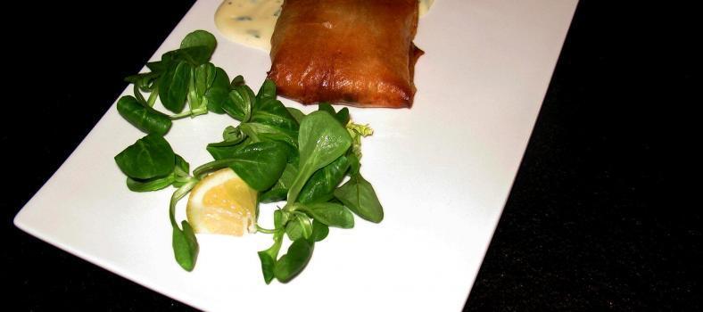 Salmon Prawn Filo Parcels Recipe