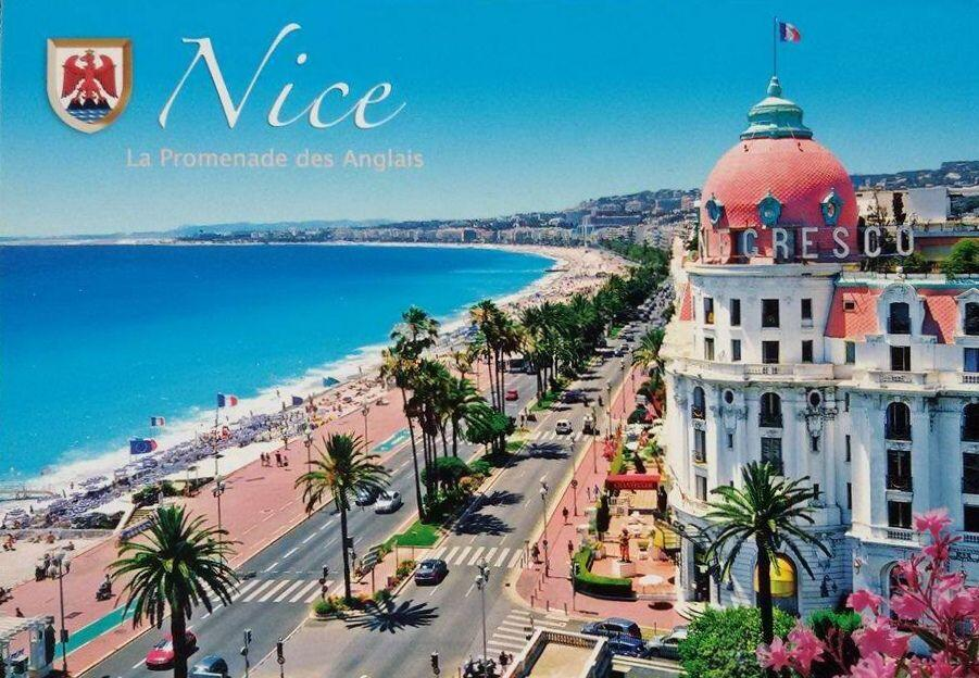 Old postcard Hotel Negresco #Nice06 #FrenchRiviera @ChiaraOrlandi @ToursofNice