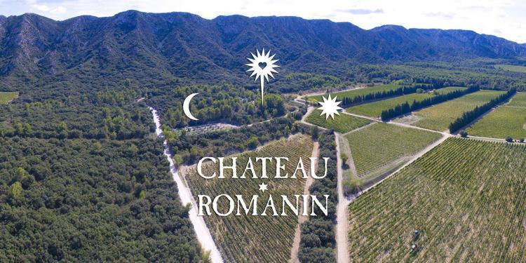 Chateau Romanin panoramique View AOP Les Baux de Provence