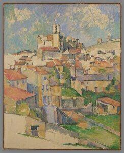 Village of Gardanne painted by Paul Cezanne