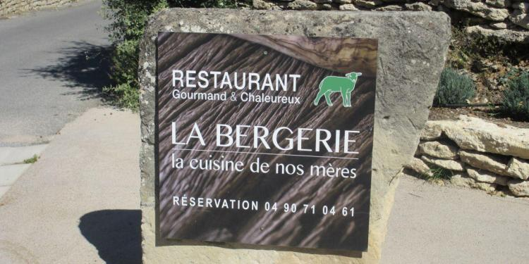 La Bergerie Restaurant Ferme de Capelongue in Bonnieux
