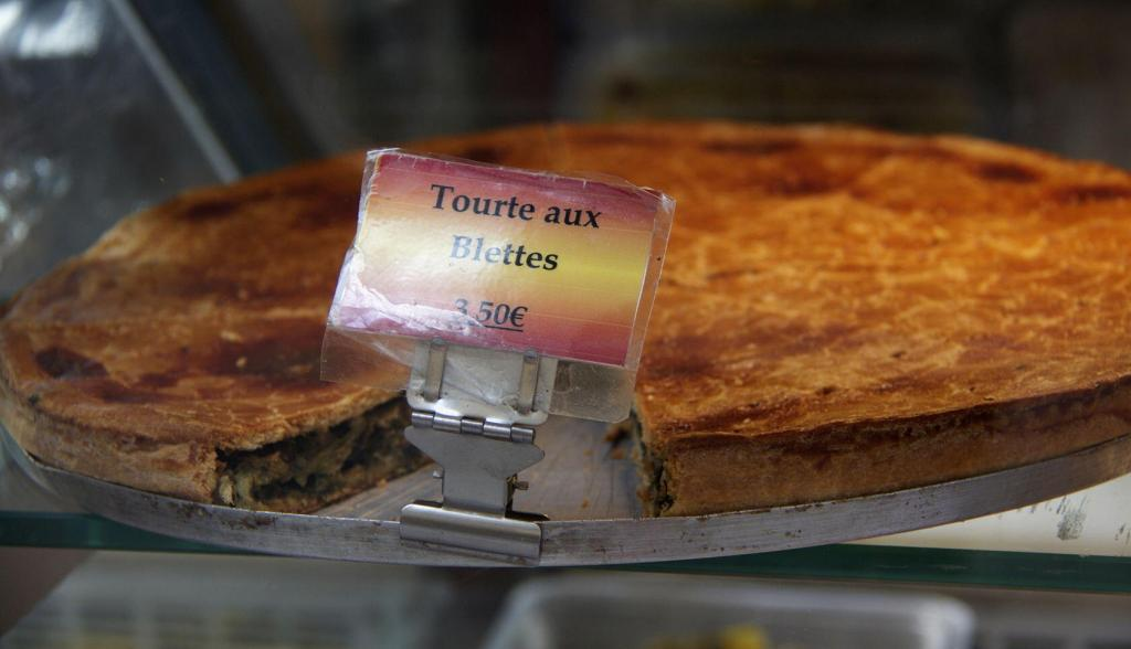 Tourte aux Blette Swiss Chard pie a specialty from Nice @PerfProvence