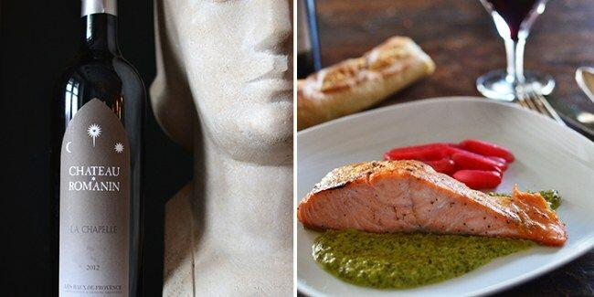 Chateau-Romanin and Salmon Recipe @Susan_PWZ