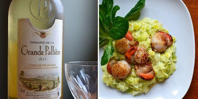 Grande-Palliere wine paired with seared scallops