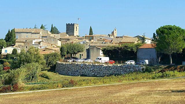 Villedieu Village view in the Drome Provencal