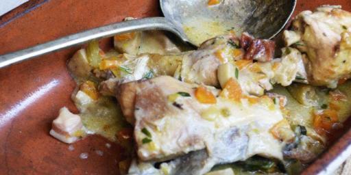 Chicken Fricassée Recipe @CuriousProvence