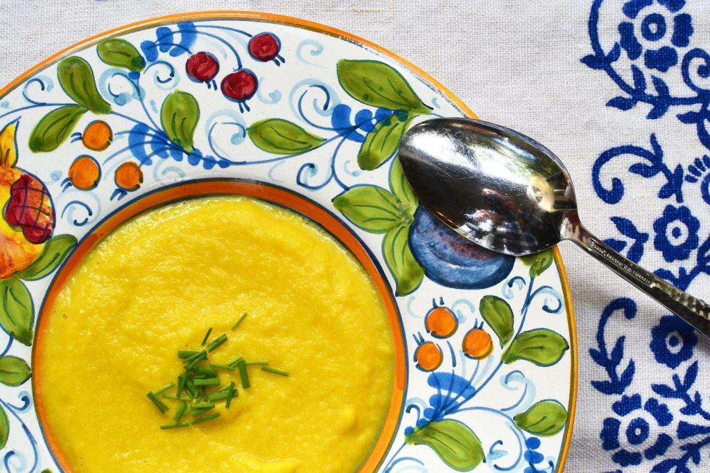Cocoa and Lavender Cauliflower saffron soup