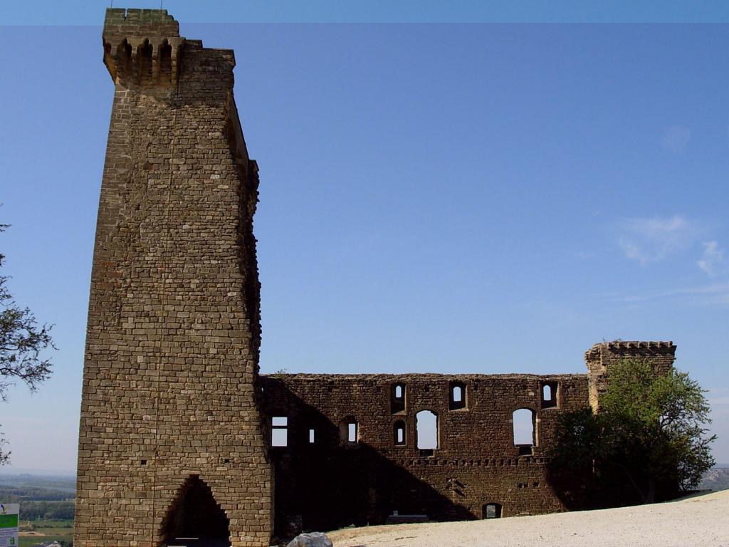 Remains of the original Chateauneuf du Pape castle