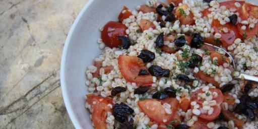 Barley Salad Roasted Tomato and thyme