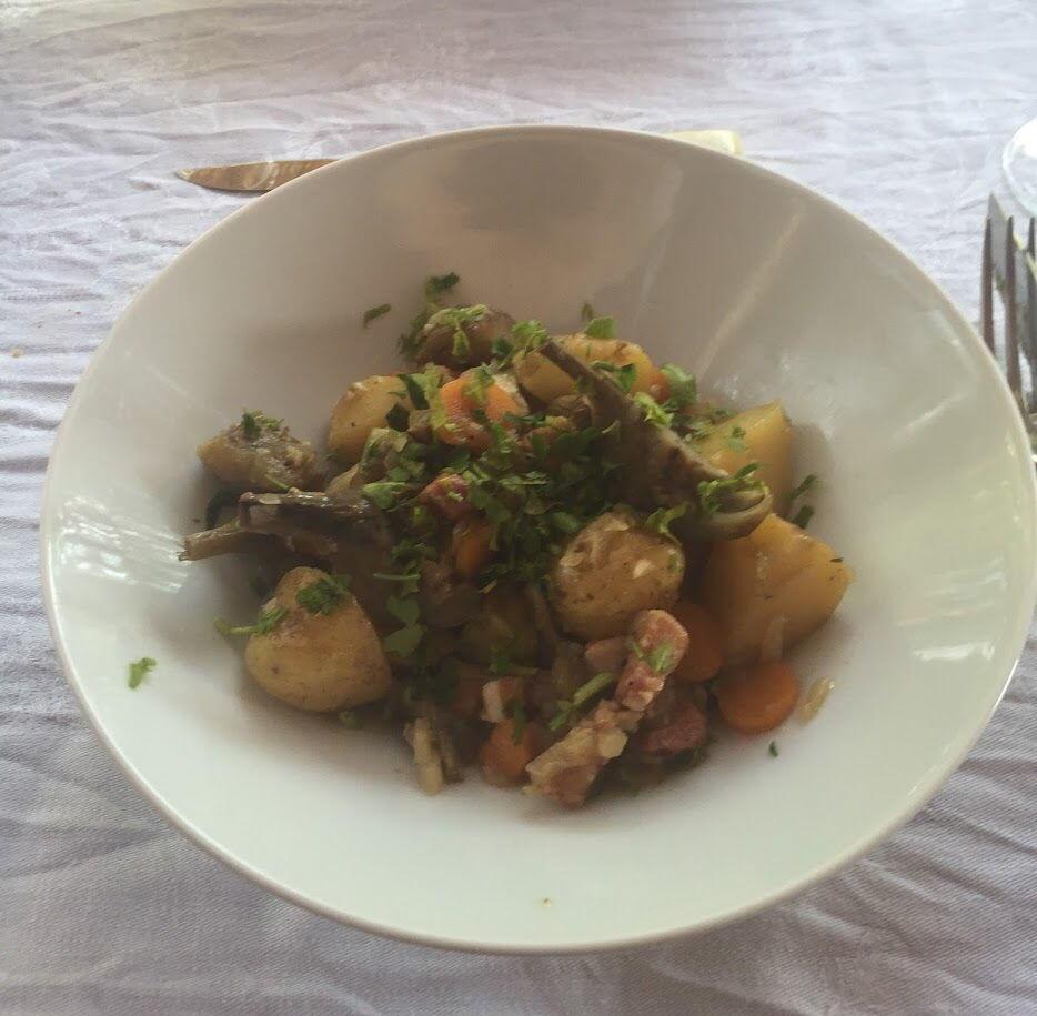 Classic Provencal Dish Artichokes Barigoule