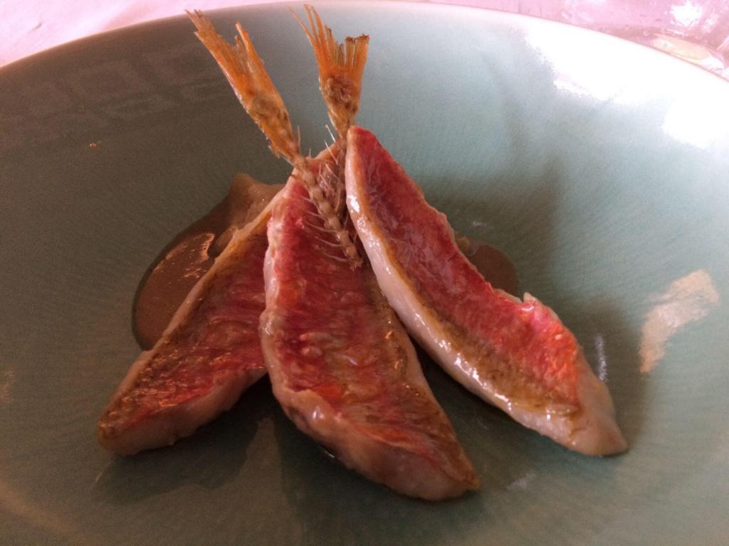 l'Auberge la Fenière Restaurant red mullet dish