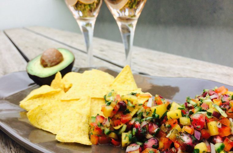 Mango Pomegrante Salsa Recipe