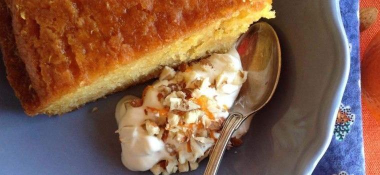 Mandarin Cardamon infused Almond Cake