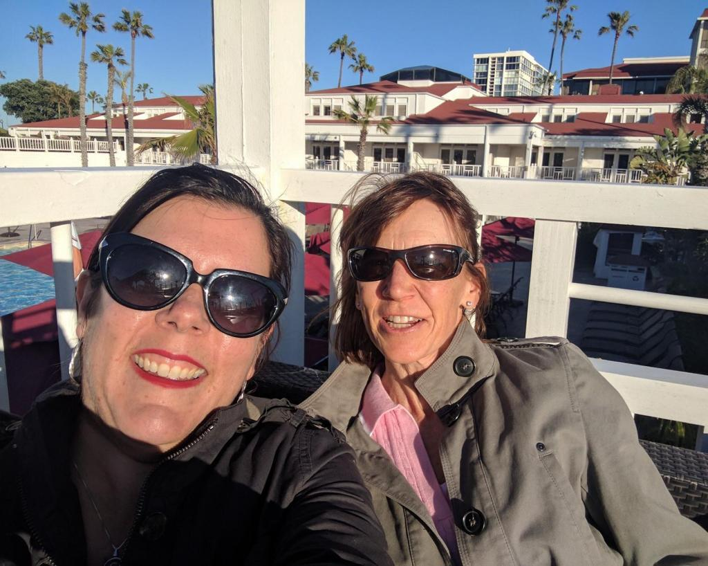 Susan and Carolyne at Hotel del Coronado