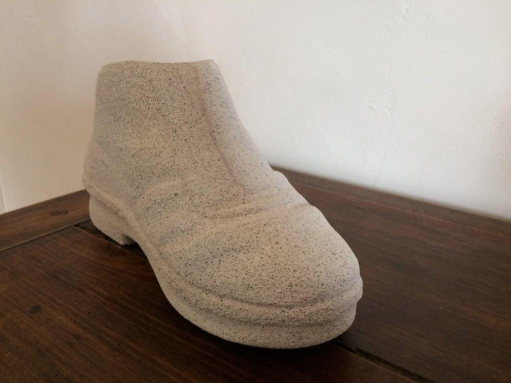 Christine Detaux The Shoe in aerated concrete