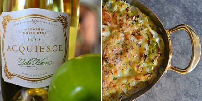Acquiesce Vineyards Belle Blanc Wine Pairing