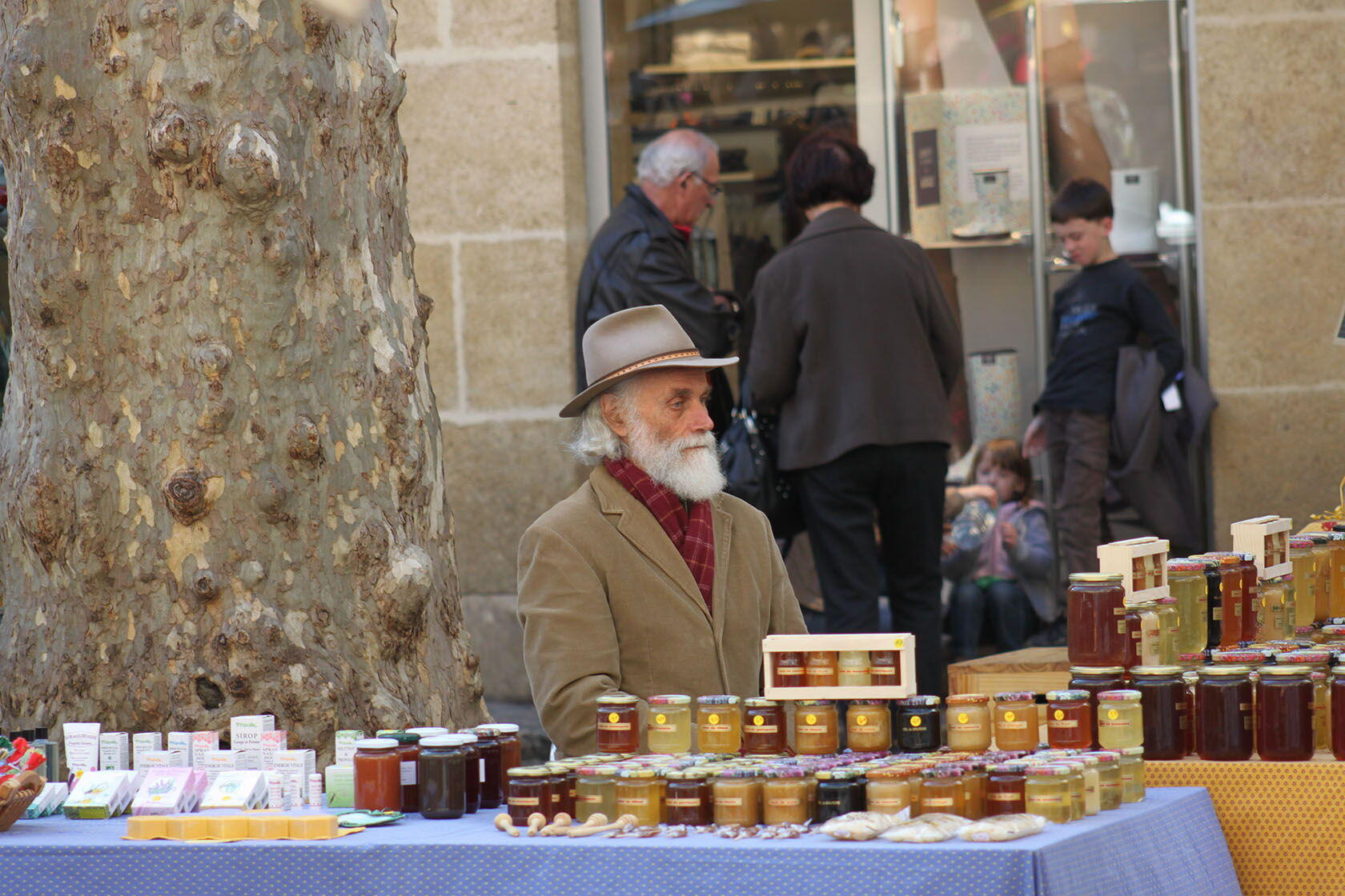 Markets Provence Cote d'Azur Honey Vendor