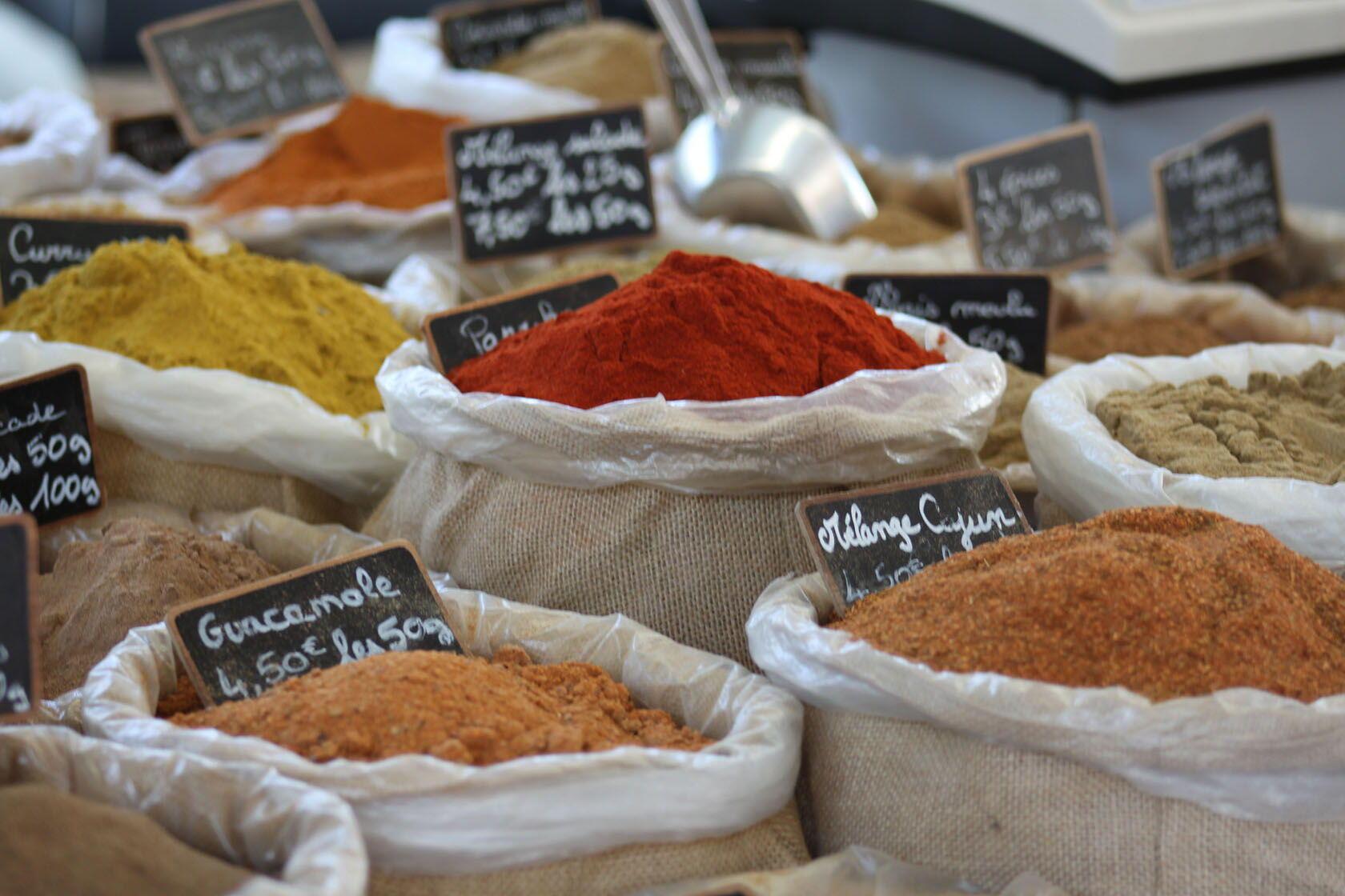 Markets Provence Cote d'Azur Spices