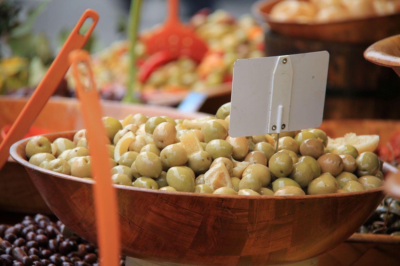Markets Provence Cote d'Azur olives
