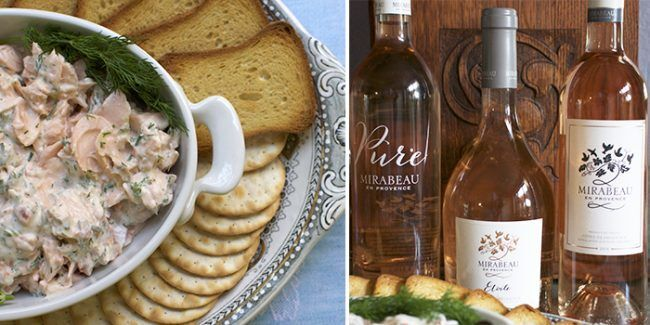 Mirabeau Wine Flight Rosé Food pairings