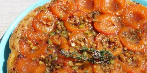 Apricot Pistachio Tarte Tartin Mirabeau Wine