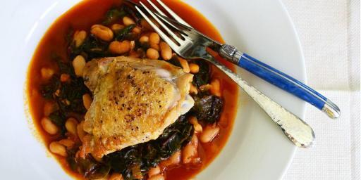 Provencal Braised Chicken Cannellini Beans
