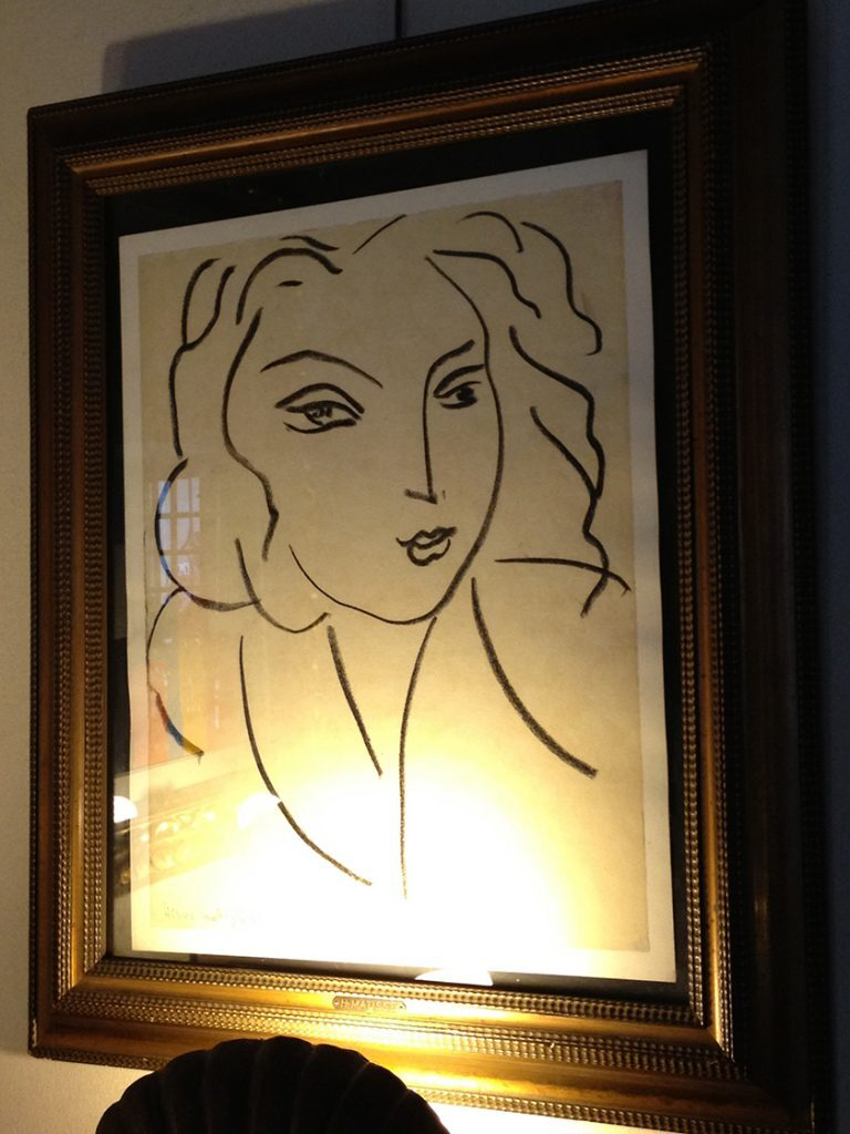 Portrait of a Woman by Henri Matisse in the indoor dinning room La Colombe d'Or @CelinaLafuenteDeLavotha