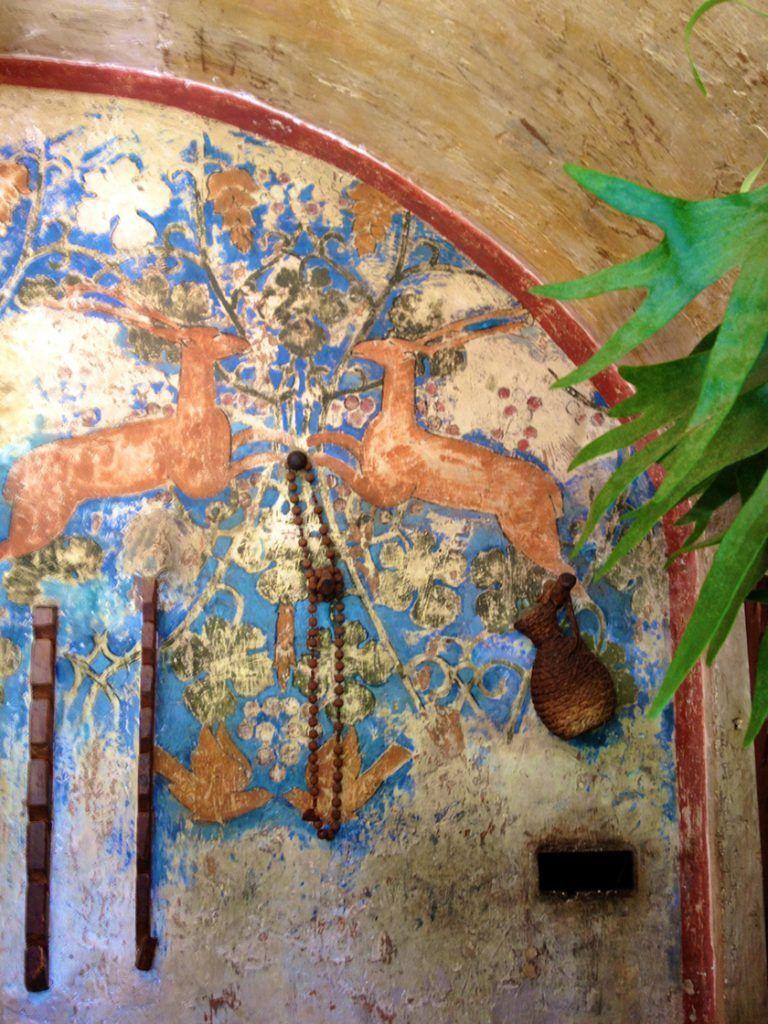 Wall fresco at the Bar La Colombe d'Or St Paul de Vence @CelinaLafuenteDeLavotha