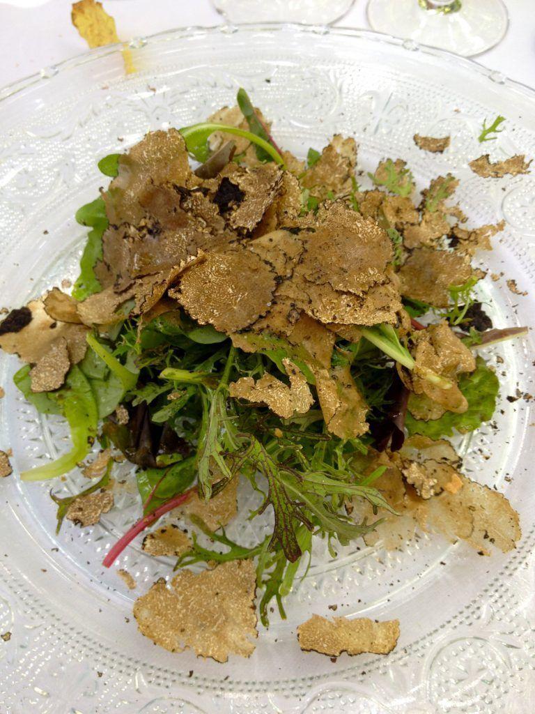 Truffle salad La Columbe d'or St Paul de Vence @CelinaLafuenteDeLavotha