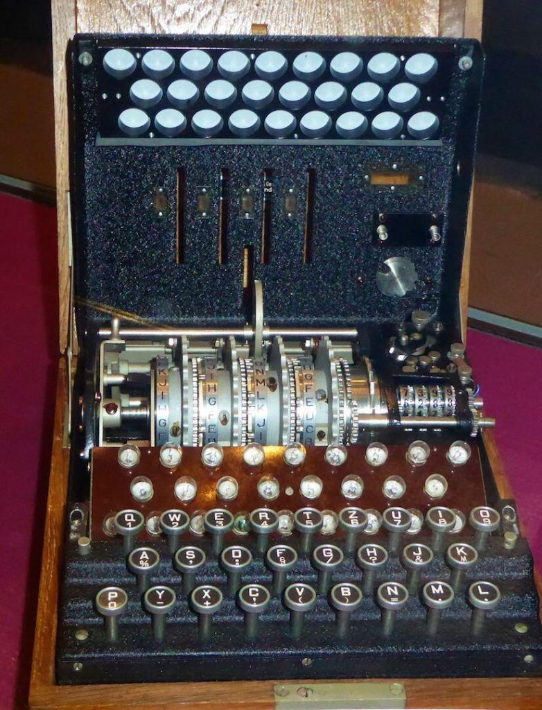Sunflower Field Novel World War II Enigma Machine