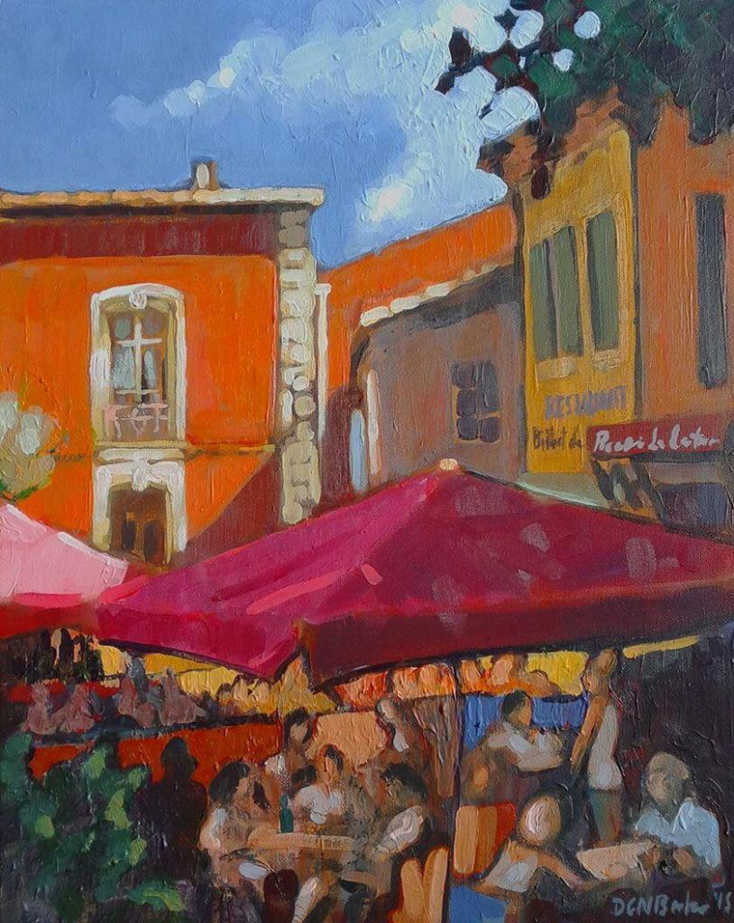 Provence Scenes Painting Sessions Cafe Roussillon Duncan Barker