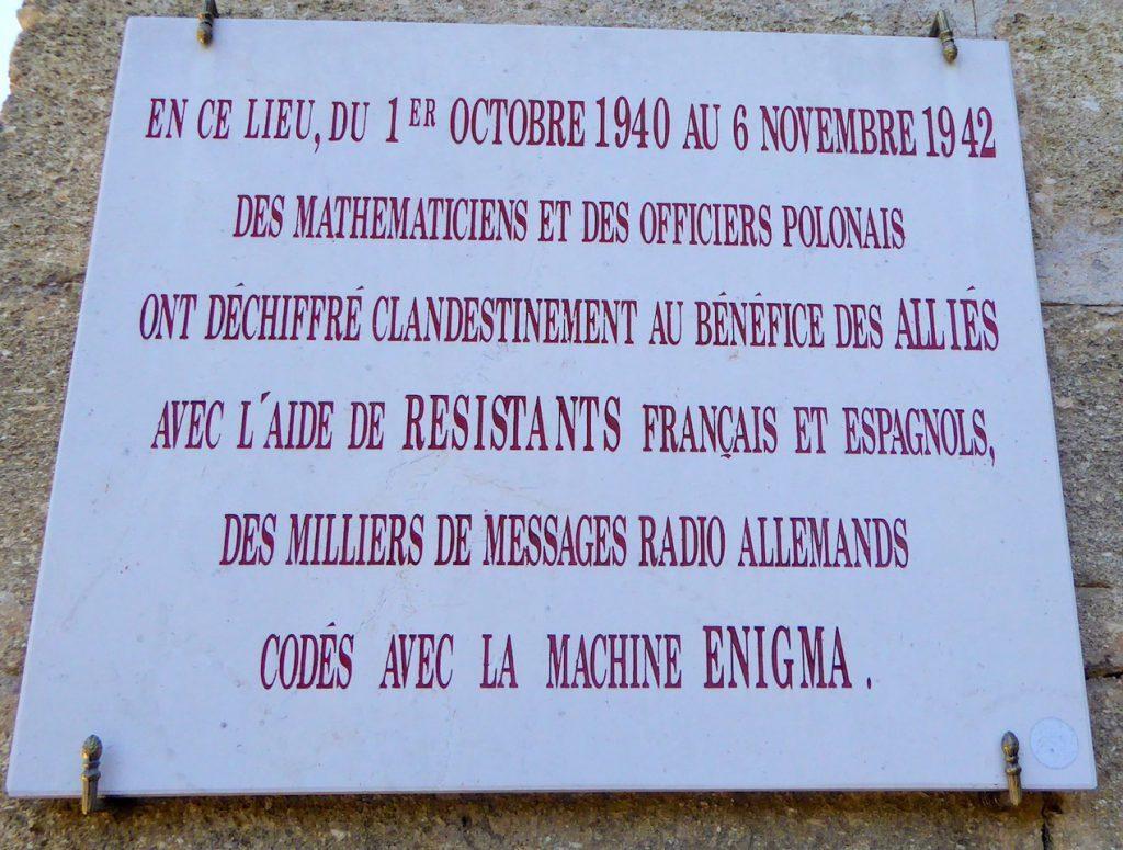 Sunflower Field Novel Commorative sign outside Chateau Fouzes
