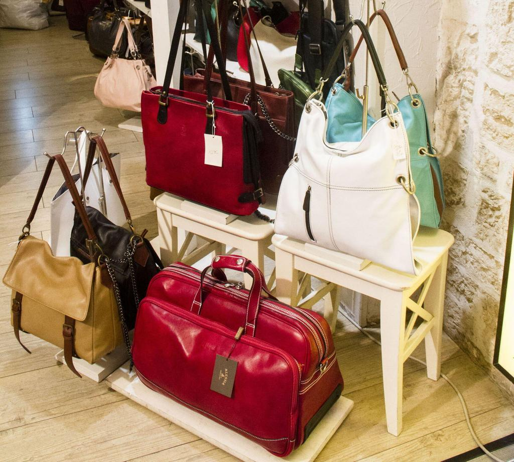 Cote d'Azur Shopping Italian Leather Bags La Torre Old Town Nice