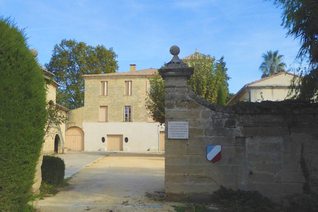 Entrance Chateau des Fouzes Sunflower Field Novel