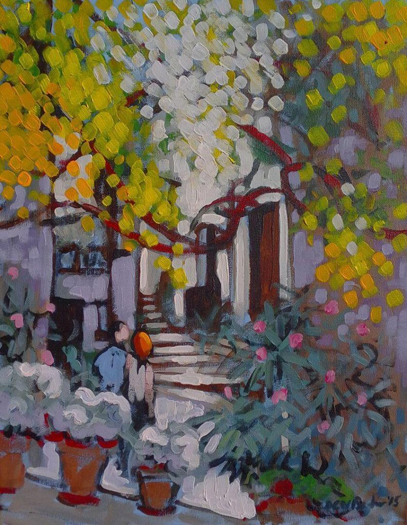 Provence Scenes Painting Sessions Lacoste Street Duncan Barker