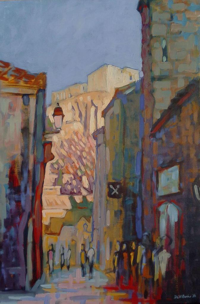 Provence Scenes Painting Sessions Les Baux de Provence Duncan Barker